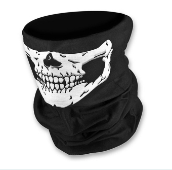 Skeleton Ghost Skull Face Mask Biker Balaclava Call of Duty CODCostume Game CS Sport Helmet Snood Black - Intl