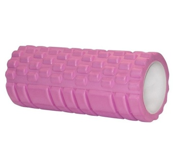 Slimming Exercise EVA Grid Yoga Foam Roller Massage Muscle FitnessElimate Fatigue (Pink)