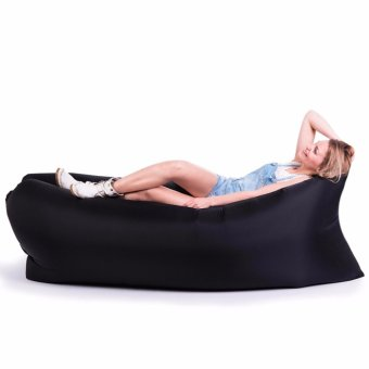 SNS Fast Inflate Air Bed Lazy Sleeping Bed Folding Sofa/Chair (Black)