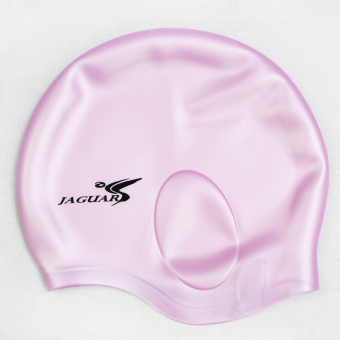 Solid color with long hair is not for men and women swimming cap ear cap