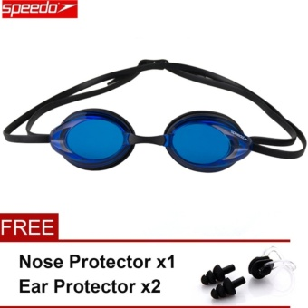 Speedo Swimming Goggles Waterproof Anti Fog Anti UV HD Lens Soft Framework Swim Glasses - intl