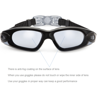 Spirit Clear Swimming Goggles Anti Fog / Scratch UV Protection Leakproof Triathlon Swim Goggles with Free Protection Case for Adult Men Women Youth Child Kids Black - 2