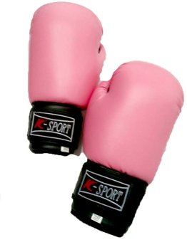 Sports Boxing Gloves 8oz (Pink)