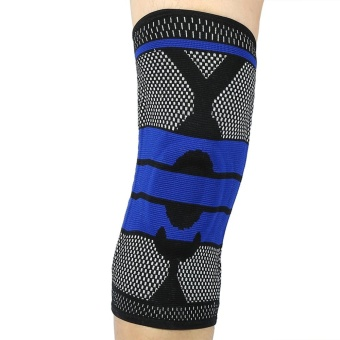 Sports Elastic Knee Patella Support Pad Brace Wrap Stabilizer Sleeve Protector (Black L) - intl