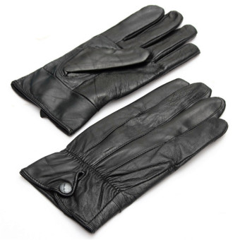 Sports Leather Gloves (Black) - 2