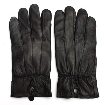 Sports Leather Gloves (Black) - 3