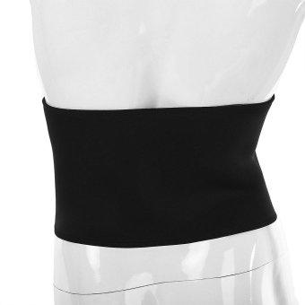 Sports Outdoors Exercise Bands Boer Sport Breathable AdjustableWaist Back Belt Support Lumbar Band Protective Gear(Black) - intl - 4