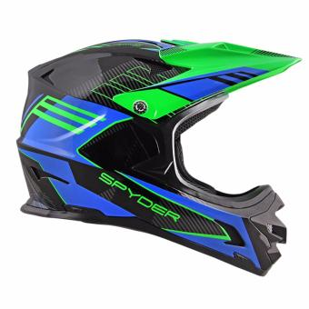 Spyder Downhill Helmet Sigma II G 372 (Black/Blue)-Large