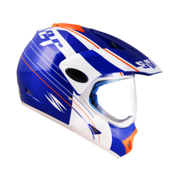 Spyder Motard 177 Motorcycling Helmet Large (White/Blue)