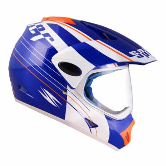 Spyder Motard 177 Motorcycling Helmet Xtra Large (White/Blue)