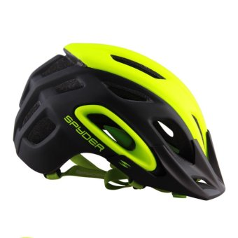 Spyder Mountain Cycling Helmet Shox 381m (Matte Black/Neon Yellow)