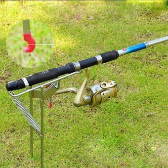 Stainless Steel Automatic Tip-Up Hook Fishing Rod Holder SetterStand Bracket - intl
