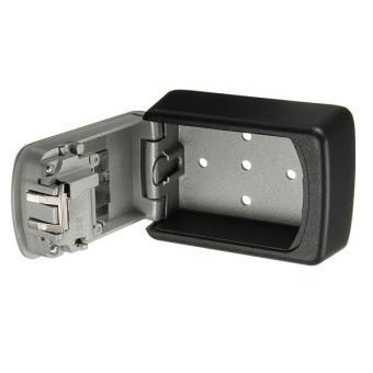 STEEL WALL MOUNT KEY BOX COMBINATION LOCK SAFE STORAGE KEY OUTSIDE SECURITY - 4