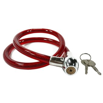 Steel Wire Bike Scooter Motor Bicycle Lock (Red)