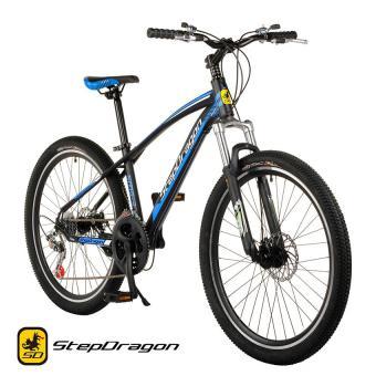 "Stepdragon SMS-3 26"" 21-Speed Mountain Bike Disc Brake (Matte Black/Blue)"