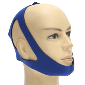 Stop Snoring Chin Aid Strap Jaw Belt Anti Snore Solution Device Apnea Support Blue