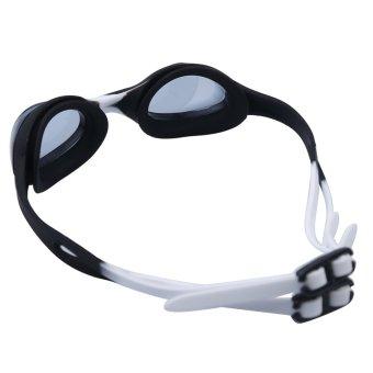 Summer Colorful Silicone Watertight Anti-Fog Children/Kids/Boys/Girls Swimming Goggles/Eyewear/Swim Glasses(Black and white) - Intl - picture 2