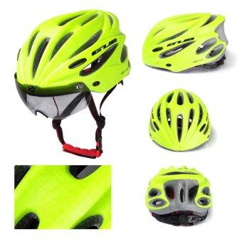 Sunyoo-Practical GUB Plus Cycling Bicycle Adult Safety Road Bike Helmet Head Protector With Visor Green - intl