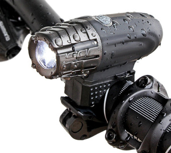 Super Bright USB Rechargeable Bike Light - Blitzu Gator 320 POWERFUL Bicycle Headlight - TAIL LIGHT INCLUDED. 320 Lumens LED Front Light. Waterproof, Easy Installation for Cycling Safety Flashlight - intl