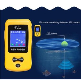 Super Wireless Fish Finder Fishing Depth Sonar Sensor Alarm RadarRechargeable - intl - 3