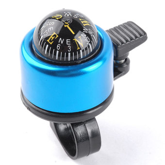 Supercart Universal Cycling Bike Bicycle Security Handlebar Bell Ring Horn with Compass ( Blue ) - INTL