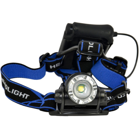 T6 LED 1200 Lm Zoomable Zoom IN/OUT Adjustable Headlamp Headlight(Blue+Black)