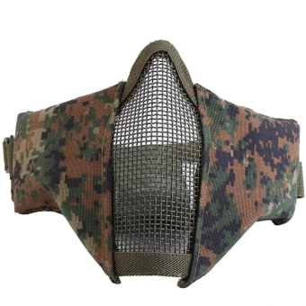 Tactical Airsoft Game Outdoor Activity Half Face Cover MaskProtective Steel Mesh Masks New 5# - intl Price Philippines