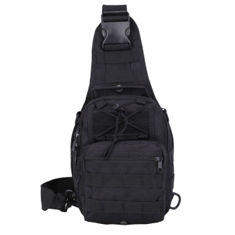 Tactical Sling Pack Backpack Military Shoulder Chest Bag 15L Black- intl