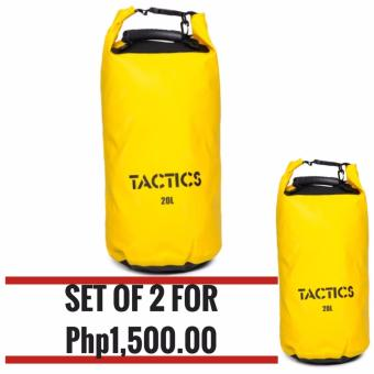 TACTICS DRY BAG PACK 20L WITH GRIP SET OF 2 YELLOW