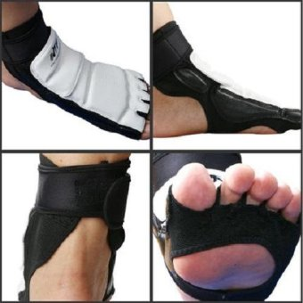 Taekwondo Foot Protector KTA For Offical Competition Fighting Feet Guard Kicking Box foot - intl