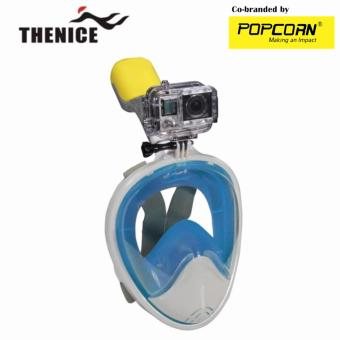 Thenice M2088G Full-Face Snorkeling Ninja Mask with Camera Holder Size L/XL
