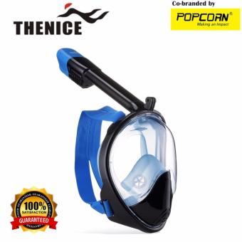 Thenice M2098G Full-Face Snorkeling Ninja Mask with Camera Holder Size L/XL