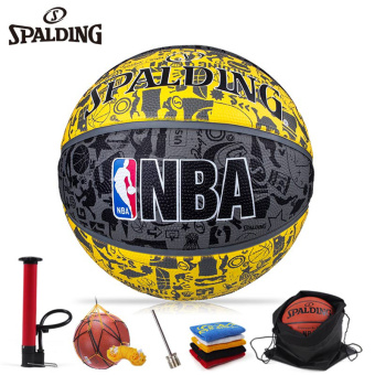 To send 5 Spalding basketball NBA graffiti fancy 7 No. 83-307Y indoor outdoor cement to non-slip wear and training