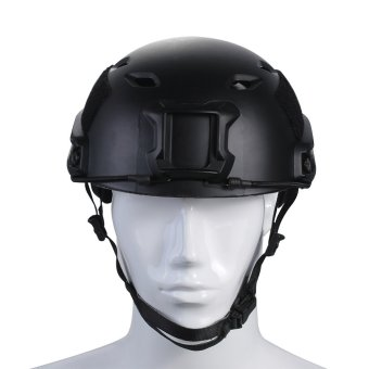 TOMOUNT Tactical Protective Helmet for Airsoft Paintball Combat ABS Black- Intl