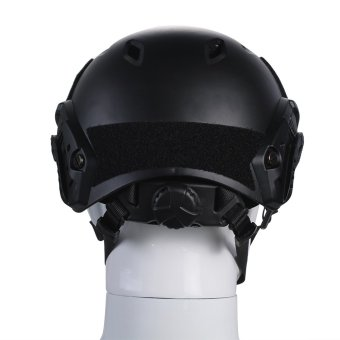 TOMOUNT Tactical Protective Helmet for Airsoft Paintball Combat ABS Black- Intl - 3