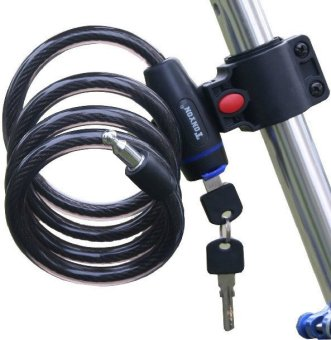 TONYON Anti-theft Steel Cable Bike Motorcycle Lock #0149 (Black)