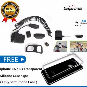 Toprime Wireless Bluetooth & ANT+ Speed Cadence Sensor for iOS(Black)