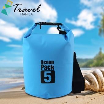 Travel Manila Ocean Pack 5 Portable Water Proof Nautical Dry Travel Tote Bag (Blue)