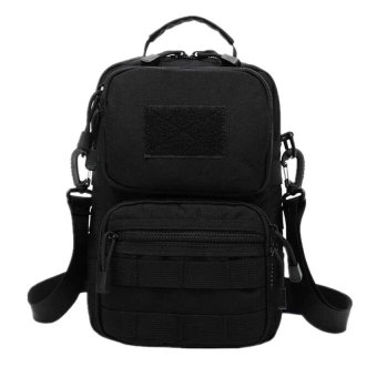 Travel Military Tactical Army Camo Sling Backpack Chest Bag (Black)#622