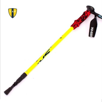 Trekking Pole Walking Stick Adjustable Hiking Alpenstock AluminumAlloy Shooting Climbing Skiing Camping - intl