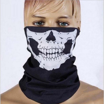 Tubular Skull Bike Motorcycle Cycling Helmet Neck Face Mask Bandana- Intl