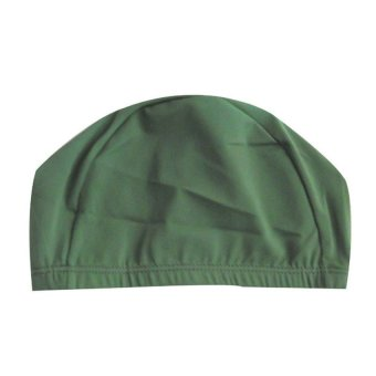 UJS New Unisex Adult Nylon Swimming Cap Swimming Hat Elasticity Cute Army Green (Intl)