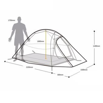 Ultralight Naturehike Fabric 2 Person Double Layers Aluminum RodTent - intl - 5