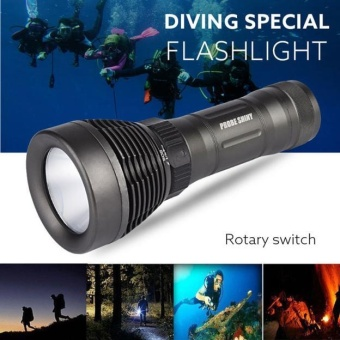 Underwater 500M 5000LM XM-L T6 LED Diving Flashlight Waterproof Torch - intl