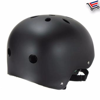 Unisex Bmx Nutshell Bike Cycling Protective Helmet (Black) Buy 1Take 1 - 4