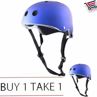 Unisex Bmx Nutshell Bike Cycling Protective Helmet (Blue) Buy 1Take 1