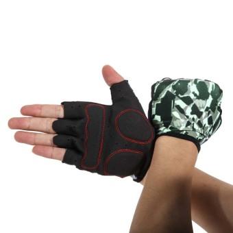 Unisex Half Finger Bike Riding Cycling Gloves Fingerless Sport Short Gloves - INTL - picture 2