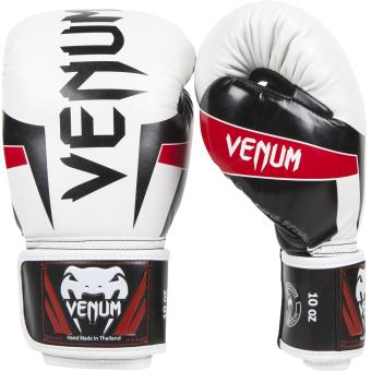 Venum Elite Boxing Gloves 10oz (White)