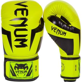 Venum Elite Boxing Gloves 12oz (Neo Yellow)