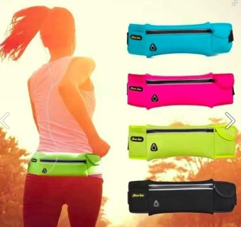 Waist Belt Sport Runner Zipper Belly Water Bag Fitness Pouch - Pink